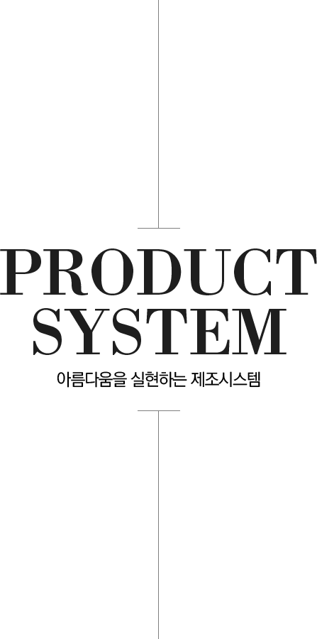 PRODUCT SYSTEM The production system that realizes beauty